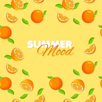 Humeur d'été orange de dessin animé
