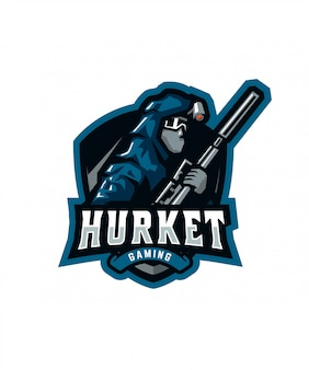 Hurket gaming sports logo