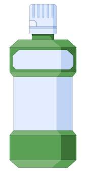 L'hygiène buccale du rince-bouche oral et l'icône de soins dentaires sont définies dans un style plat isolé sur fond blanc