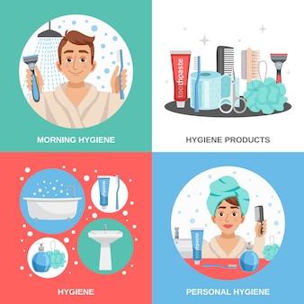 Hygiene square compositions set