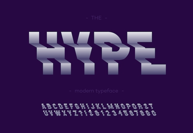 Hype bold police 3d typographie sans serif