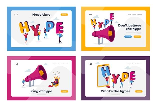Hype, ensemble de modèles de page de destination de contenu internet viral