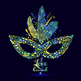 I love carnaval illustration lumineux