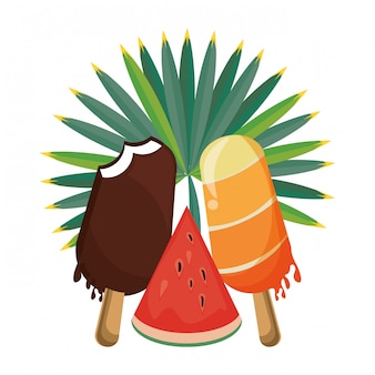 Ice lolly popsicle cartoon