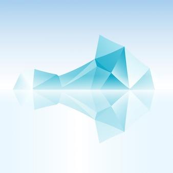 Iceberg abstrait fabriqué avec un triangle