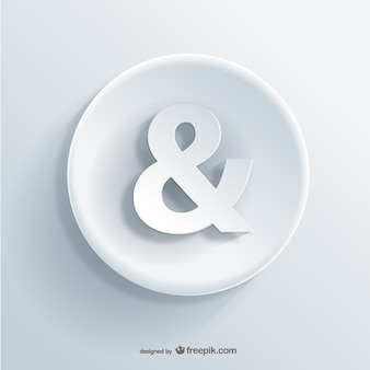 Icon 3d ampersand