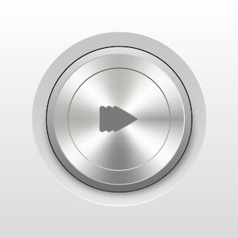 Icône 3d bouton d'alimentation lecture pause son sourdine combiné
