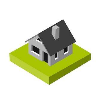 Icône 3d isométrique. maison de pictogrammes. illustration vectorielle eps 10.