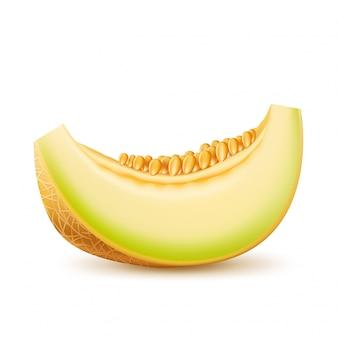 Icône 3d réaliste de melon frais