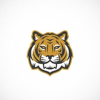 Icône abstraite de mascotte visage de tigre