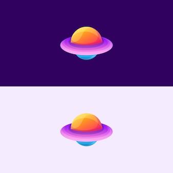 Icône abstraite d'ovni
