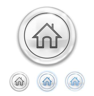 Icône d'accueil sur l'icône du bouton normal, survol, enfoncé