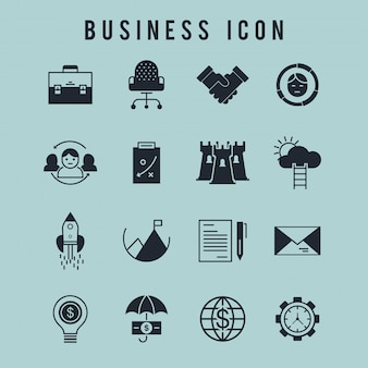 Icône d'affaires ensemble