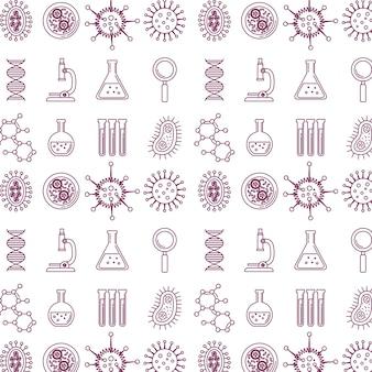 Icône de l'affiche de la science de la chimie