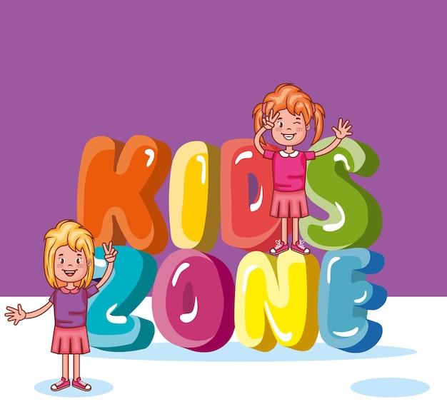Icône d'affiche zone enfants