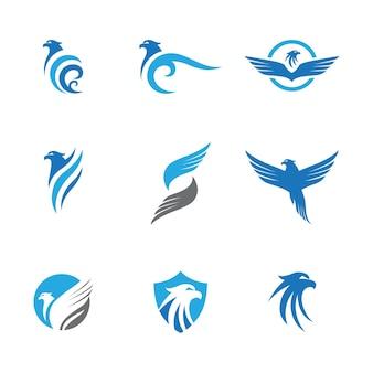 Icône d'aile de faucon modèle de conception d'illustration vectorielle