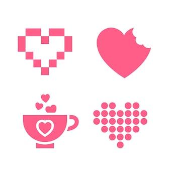 Icône d'amour ou signes de la saint-valentin pour la célébration