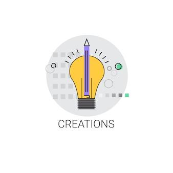 Icône de l'ampoule concept de création d'idée