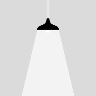 Icône d'ampoule de lampe. place pour votre texte. les lampes s'allument.