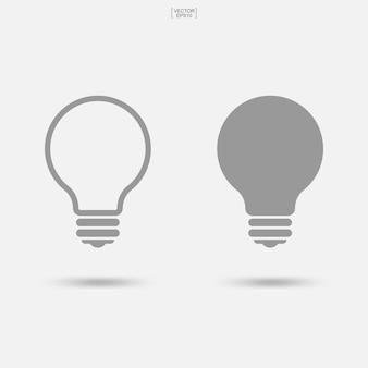 Icône d'ampoule. signe et symbole de la lampe. illustration vectorielle.