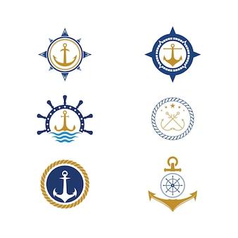Icône d'ancrage logo template vector illustration