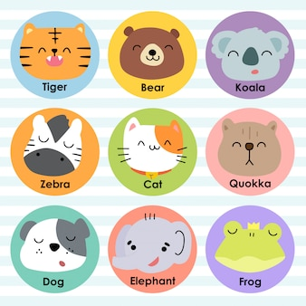 Icône animaux mignon cartoon vector illustration