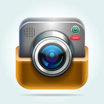 Icône d'appareil photo numérique reflex.