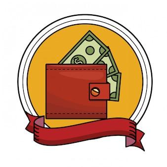 Icône d'argent de portefeuille