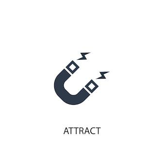 Icône d'attraction. illustration d'élément simple. attirer la conception de symbole de concept. peut être utilisé pour le web et le mobile.