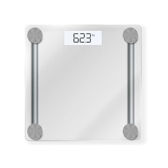 Icône de balances au sol électroniques pour mesurer le poids humain