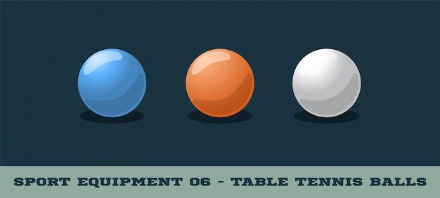 Icône de balles de tennis de table