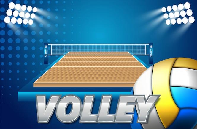 Icône de ballon de volleyball coloré
