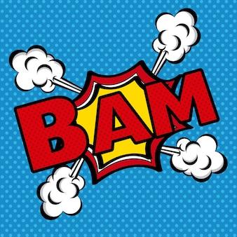 Icône de bande dessinée bam