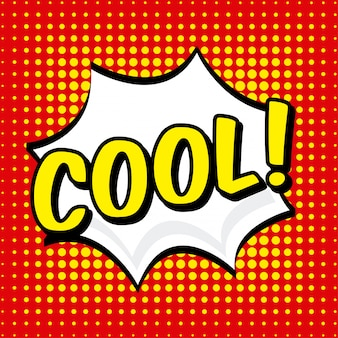Icône de la bande dessinée sur l'illustration vectorielle fond pointillé