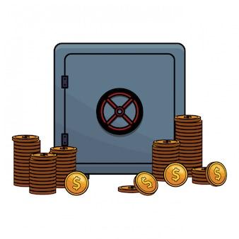 Icône de banque sécurisée