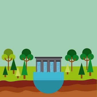 Icône de barrage d'eau