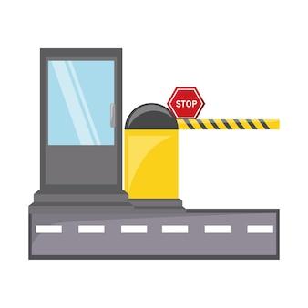 Icône de barrière de stationnement