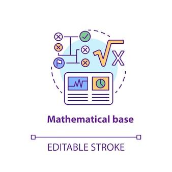 Icône de base mathématique