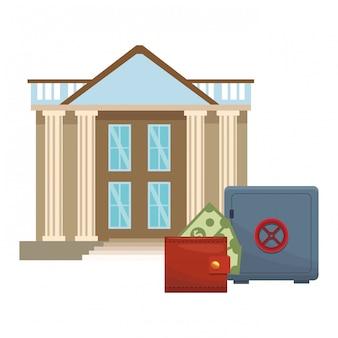 Icône de bâtiment de banque