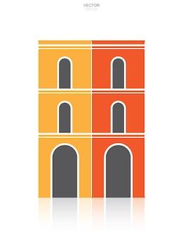 Icône de bâtiment. identité architecturale avec la conception des détails et des éléments. illustration vectorielle.