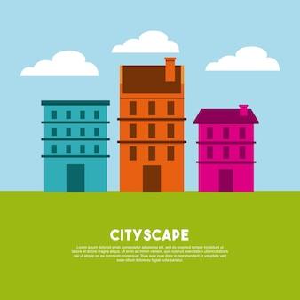 Icône de bâtiments bâtiments urbains