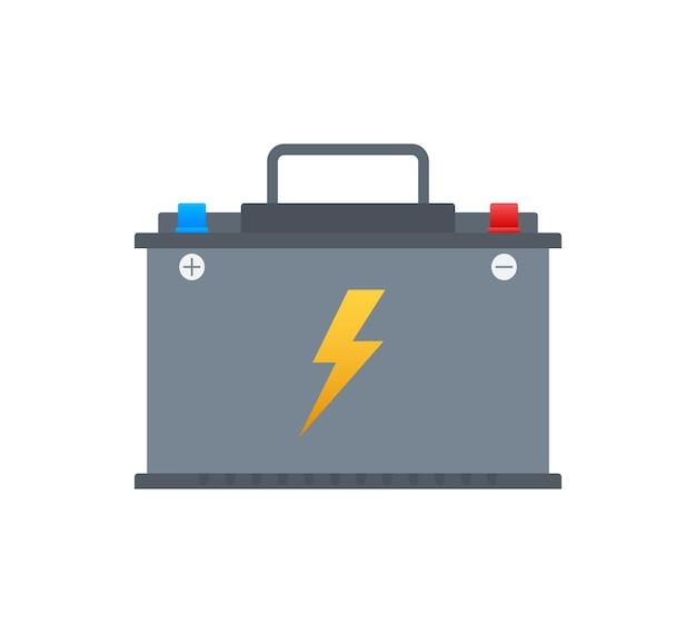 Icône de batterie de voiture. puissance d'énergie de la batterie d'accumulateur. illustration vectorielle