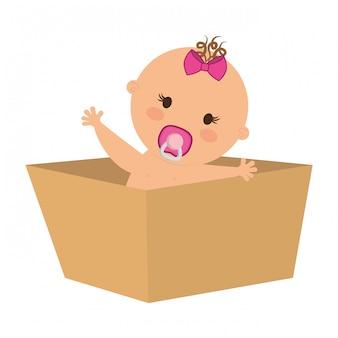 Icône de bébé mignon