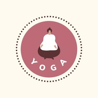 Icône bien-être yoga et méditation