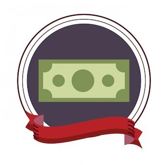 Icône de billets d'argent