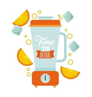 Icône de blender detox. smoothie et juice design. graphique de vecteur