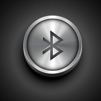 Icône de bluetooth métallique