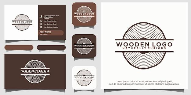 Icône en bois ou logo de la scierie symbole ou signe des anneaux de croissance des arbres vectoriels noirs
