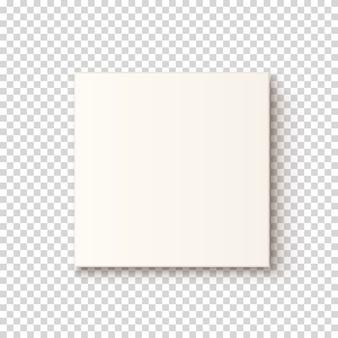 Icône de boîte blanche réaliste, top vew. modèle de carte de voeux, brochure ou affiche.