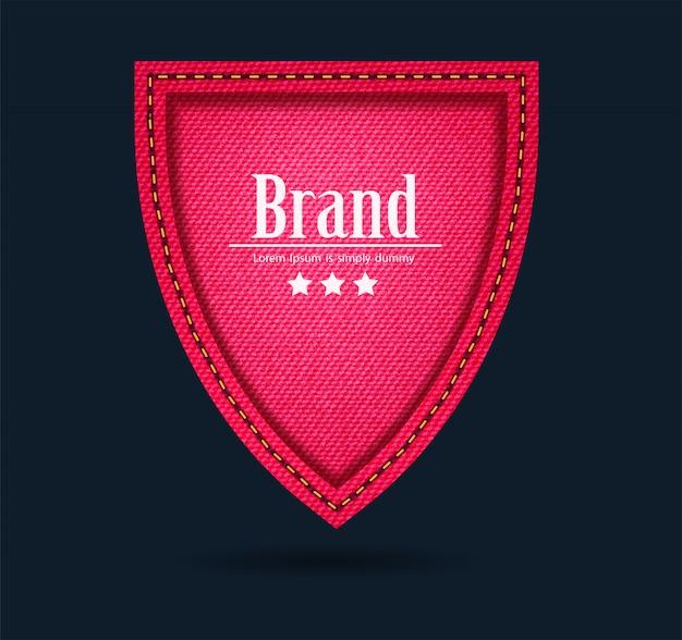 Icône de bouclier de jeans rouge protéger signe de garde